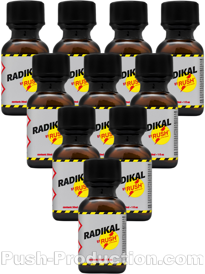 10 x Radikal Rush Big Square Bottle - Multipack
