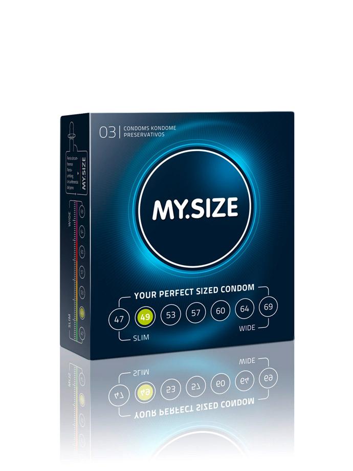 3 x MY.SIZE Condoms - Size 49