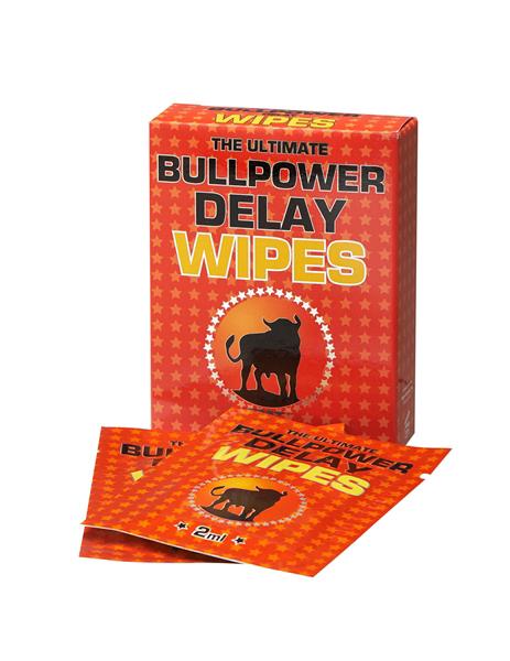 Bull Power Wipes Delay Sachets 6 x 2 ml