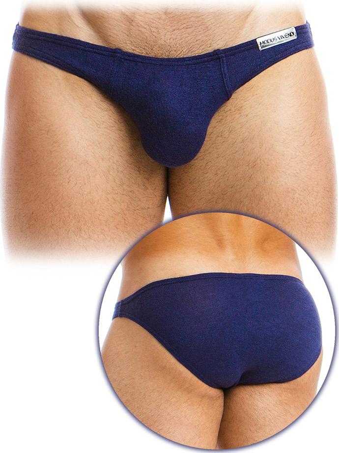 Modus Vivendi - Mohair Low Cut Brief - Marineblau