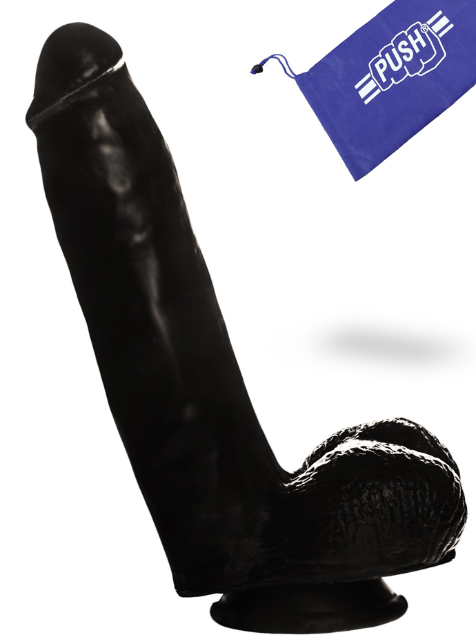 Penis Dildo Push Black 6.3 inch with Suction Cup