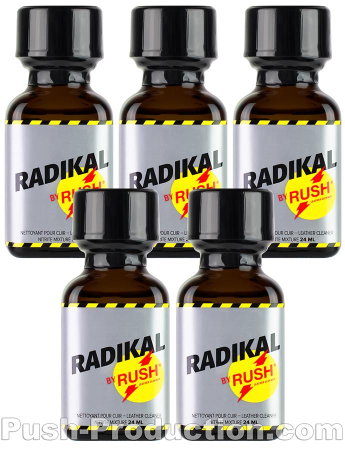 5 x Radikal Rush Big Square Bottle - Multipack
