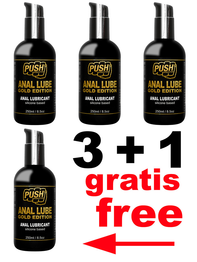 3 + 1 PUSH Anal Lube Silikon Gold Edition 250 ml