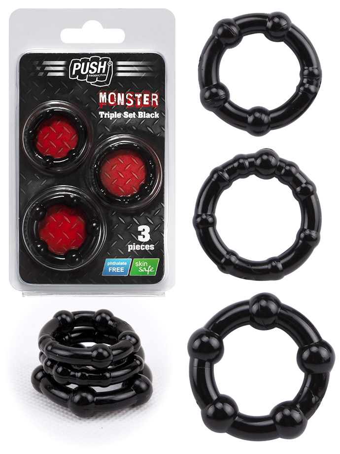 Push Monster - Triple Set - Schwarz