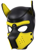 Pupplay Dog Mask - Black/Yellow