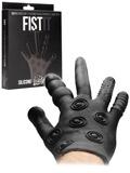 FistIt Silikon Stimulations Handschuh - Schwarz