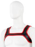Pupplay Neopren Harness - Rot/Schwarz