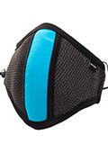 Barcode Berlin - Maske mit Filter - Grau/Neonblau